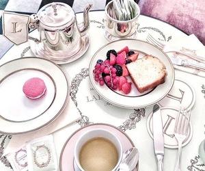 cake, c o f f e e, and enjoy image
