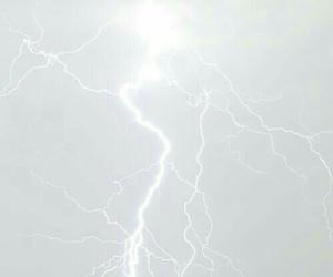 lightning, white, and sky image