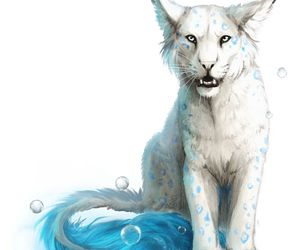 blue, white tiger, and magical creatures image