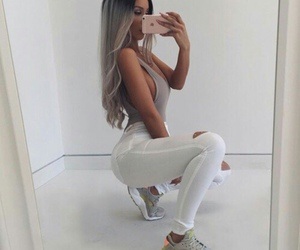 booty, grey hair, and fitness image