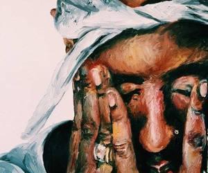 2pac, art, and tupac image