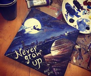 peter pan, art, and never grow up image