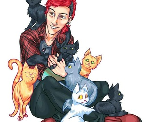 josh dun, twenty one pilots, and cat image