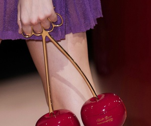 cherry, bag, and red image