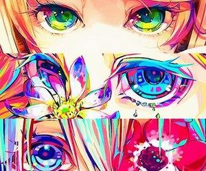 anime, eyes, and art image