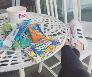 addidas, candy, and food image