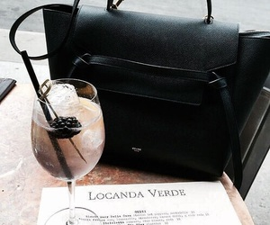 drink, bag, and fashion image