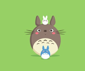 green, kawaii, and totoro image