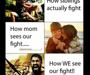 siblings, funny, and fight image