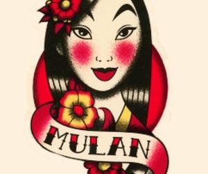 disney, mulan, and art image