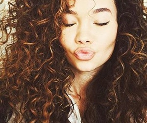 hair, beautiful, and curly image