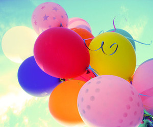 balloons, colors, and pink image