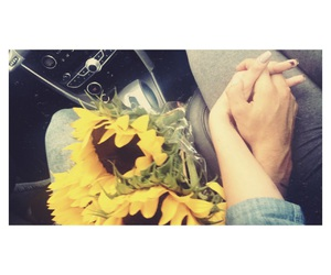 boyfriend, present, and sunflowers image