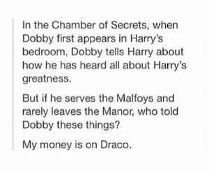 harry potter, draco, and potter image