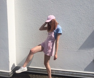 aesthetic, hat, and pastel image