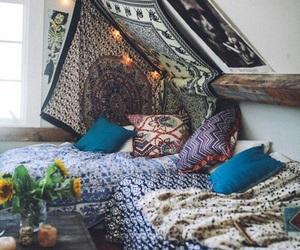room, bedroom, and boho image