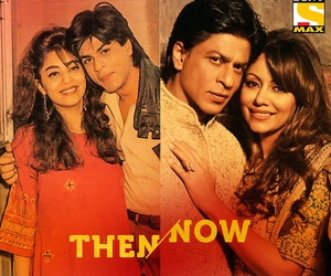 srk, with wife, and king of romance image