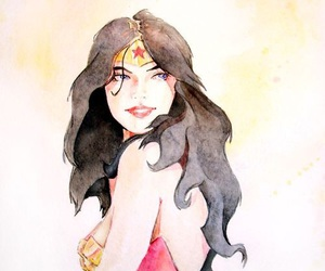 wonder woman and art image