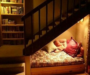 stairs, house, and bed image