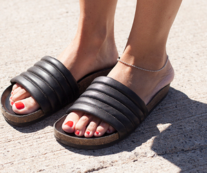 black sandals, fashion, and style image