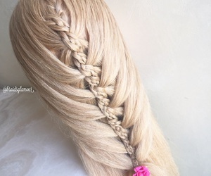 hairstyle, four strand braids, and combo braid image