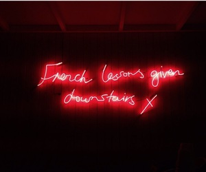 french, neonsign, and lessons image