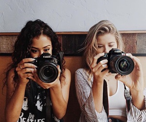 best friends, camera, and friendship image