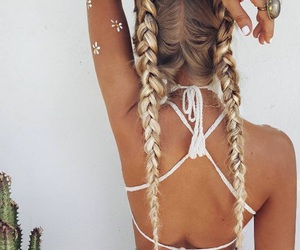 aesthetic, braids, and fashion image