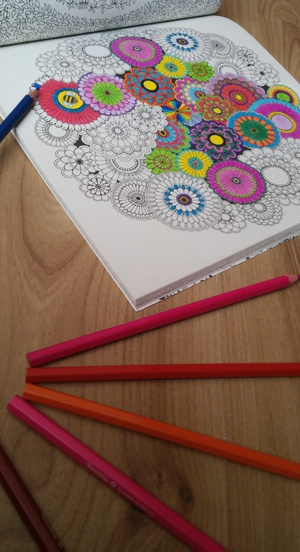 colorful, tajemny ogród, and coloring book image