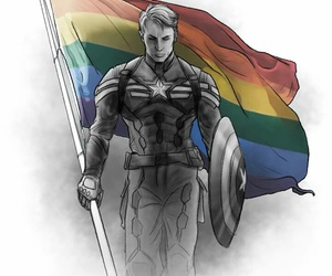 captain america, gay, and steve rogers image