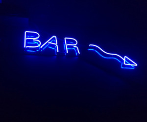 blue, neon, and bar image