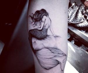 tattoo, mermaid, and ink image