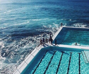 summer, blue, and ocean image