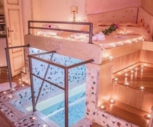 room, bedroom, and pool image