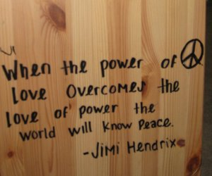 Jimi Hendrix, quote, and peace image