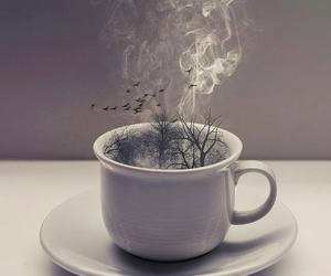 cup, coffee, and art image