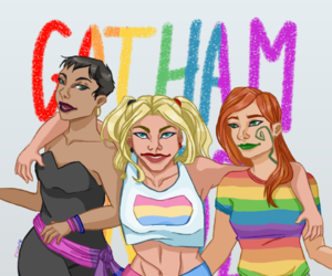 catwoman, harleen quinzel, and harley quinn image
