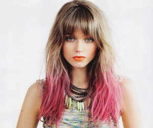 hair, pink, and model image