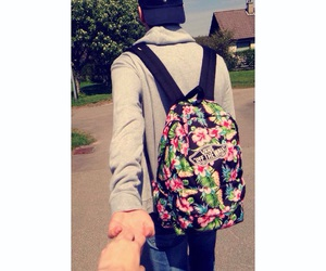 backpack, best friend, and boyfriend image