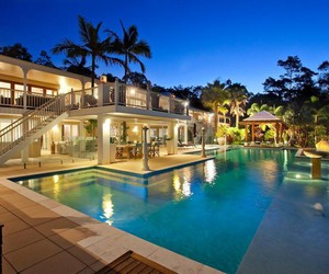 classy, pool, and rich image
