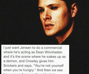 Jensen Ackles, supernatural, and crowley image