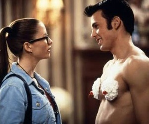 chris evans, couple, and chyler leigh image