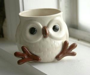 cute, mug, and owl image