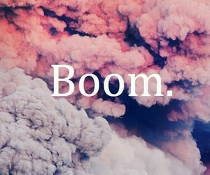 boom, pink, and clouds image