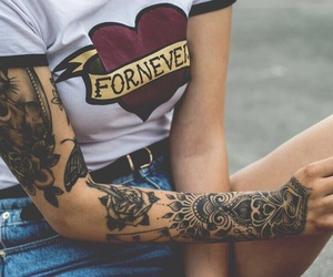 inked, tattoo, and tattoo girl image