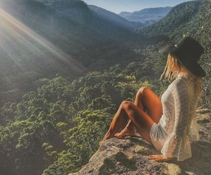 nature, fashion, and mountains image