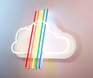 rainbow, clouds, and light image