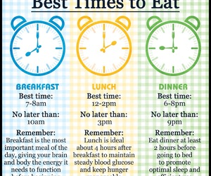 breakfast, dinner, and health image