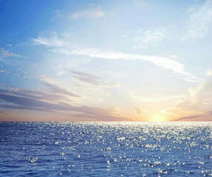 sea, sun, and sky image