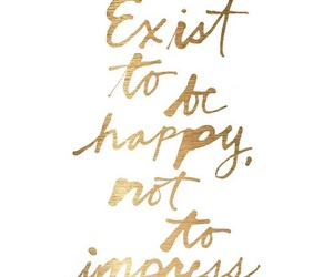 quote, happy, and gold image